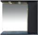 Шкаф с зеркалом для ванной Misty Элвис 85 / П-Элв-01085-052П -