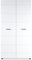 Шкаф Империал Йорк 2-х дверный (белый жемчуг/белый глянец) -