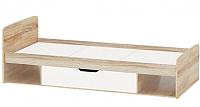 Односпальная кровать Империал Стелс топчан 90 (дуб сонома/белый) -