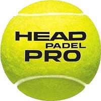 Набор мячей для падел-тенниса Head Padel Pro / 575813 (3шт, оранжевый) -
