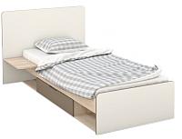Односпальная кровать Империал Татани 90 (дуб сонома/латте/кремовый) -