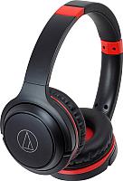 Наушники-гарнитура Audio-Technica ATH-S200BT (черный/красный) -