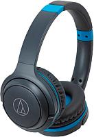 Наушники-гарнитура Audio-Technica ATH-S200BT (серый/синий) -