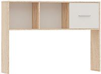 Приставка для стола Империал Стелс 120 (дуб сонома/белый) -