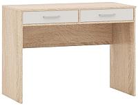 Письменный стол Империал Стелс 100 2ящ (дуб сонома/белый) -