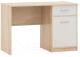 Письменный стол Империал Стелс 110 1д1ящ (дуб сонома/белый) -