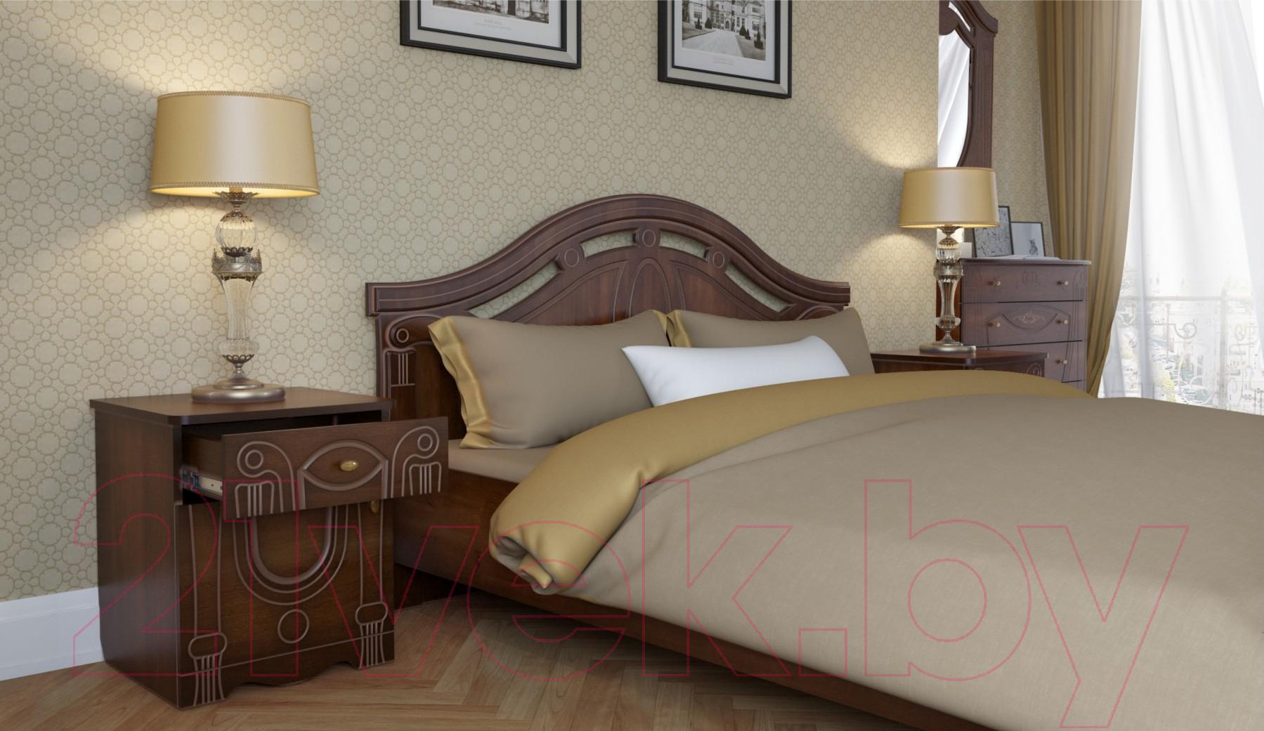 Купить Комплект мебели для спальни Империал, Александрина с ОМ ШК-4 (орех/золото), Россия