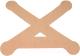 Динамический тейп Dynamic Tape PosturePals X tape PP-X-TL (р.L, 5шт, телесный) -