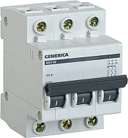 Выключатель автоматический Generica ВА 47-29 3Р 25А 4.5кА / MVA25-3-025-C -