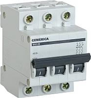 Выключатель автоматический Generica ВА 47-29 3Р 63А 4.5кА / MVA25-3-063-C -