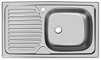 Мойка кухонная Ukinox Классика CLM760.435 5K 1R -