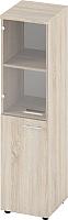 Шкаф-пенал с витриной Славянская столица Б-6.1540.1 (левый, дуб сонома) -