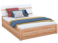 Двуспальная кровать Империал Дакота с ПМ (дуб сонома/белый глянец) -