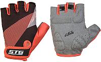 Перчатки велосипедные STG Х87912 (XL, черный/красный) -