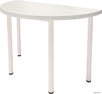Обеденный стол Millwood Далис 1 (дуб белый Craft/металл белый) -