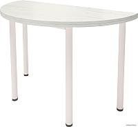 Обеденный стол Millwood Далис 3 (дуб белый Craft/металл белый) -
