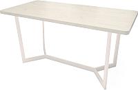 Обеденный стол Millwood Loft M Light 200x100 (дуб белый Craft/металл белый) -