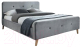 Двуспальная кровать Signal Malmo Velvet 160x200  (серый) -