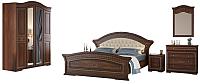 Комплект мебели для спальни Империал Диана без ОМ МИ ШК-4 (орех/золото) -