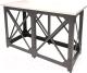 Барный стол Millwood Loft N (дуб белый/металл черный) -