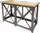 Барный стол Millwood Loft N (дуб натуральный/металл черный) -