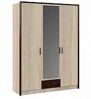 Шкаф Империал Эшли 3-х дверный (венге/дуб сонома) -
