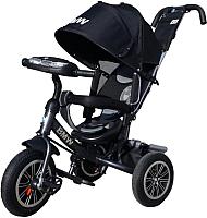 Детский велосипед с ручкой BMW Trike 3 колеса / BMW-M-N1210-BLACK -