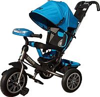Детский велосипед с ручкой BMW Trike 3 колеса / BMW-M-N1210-LBLUE -