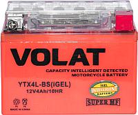 Мотоаккумулятор VOLAT YTX4L-BS iGEL R+ (4 А/ч) -