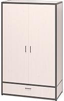 Шкаф Millwood Neo Loft ML-5 (дуб белый/металл черный) -