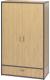 Шкаф Millwood Neo Loft ML-5 (дуб натуральный/металл черный) -