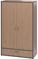 Шкаф Millwood Neo Loft ML-5 (дуб темный/металл черный) -