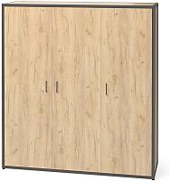 Шкаф Millwood Neo Loft ML-6/L (дуб золотой Craft/металл черный) -