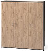 Шкаф Millwood Neo Loft ML-6/L (дуб табачный Craft/металл черный) -