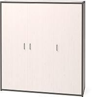 Шкаф Millwood Neo Loft ML-6 (дуб белый металл/черный) -