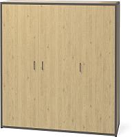 Шкаф Millwood Neo Loft ML-6 (дуб натуральный/металл черный) -