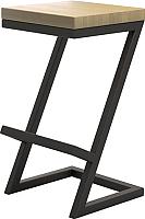 Табурет барный Millwood СДН-6 Бран (дуб натуральный/металл черный) -
