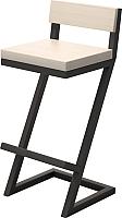 Стул барный Millwood СДН-6 Оберг (дуб беленый/металл черный) -