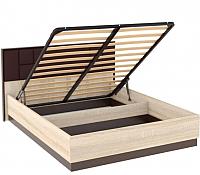Двуспальная кровать Империал Эшли с ПМ МИ (венге/дуб сонома) -