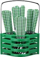 Набор столовых приборов Peterhof PH-22118 (зеленый) -