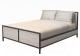 Двуспальная кровать Millwood Neo Loft КМ-2 /L (белый/металл черный) -