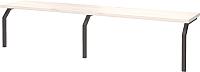 Полка для парты Millwood Обучайка 2 ННС-2 (задняя,дуб белый Craft) -