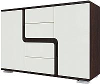 Комод SV-мебель Гостиная Нота 25 (дуб венге/жемчуг) -