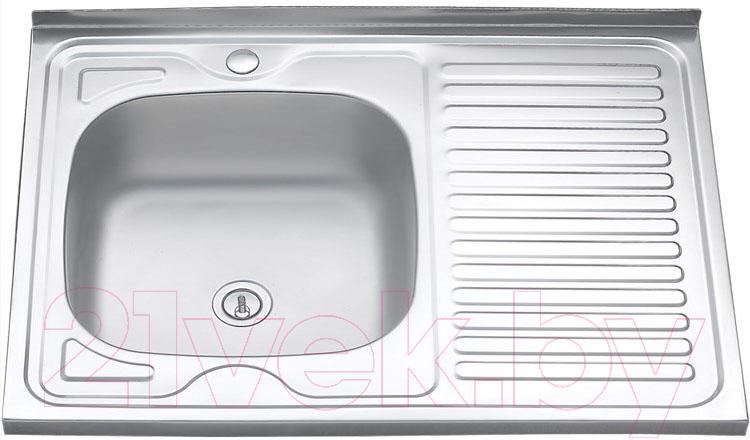 Купить Мойка кухонная Melana, 8060 L 0.8/180 / 007t L*10, Россия, нержавеющая сталь