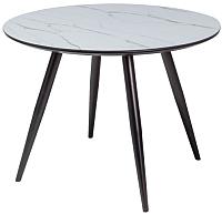 Обеденный стол Signal Ideal (керамический эффект/черный матовый) -