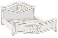 Двуспальная кровать Империал Александрина с ламелями (белый/золото) -
