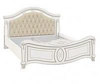 Двуспальная кровать Империал Александрина с ламелями МИ (белый/золото) -