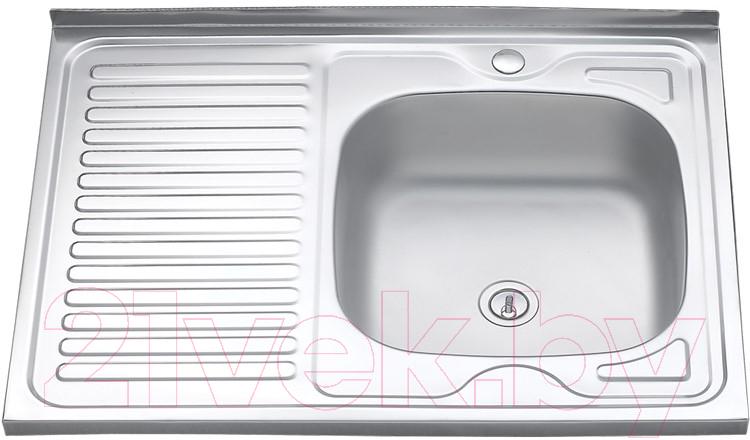 Купить Мойка кухонная Melana, 8060 R 0.6/160 / 016t R*10, Россия, нержавеющая сталь