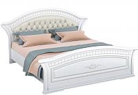 Двуспальная кровать Империал Диана с ламелями МИ (белый/золото) -