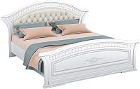 Двуспальная кровать Империал Диана с ламелями МИ (белый/серебристый) -
